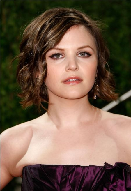 An elegant evening look short hairstyles for round faces