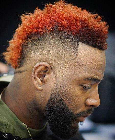 Bring two tone mohawk haircuts for black men