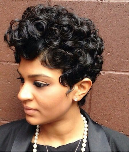 Curly pixie cut black women hairstyles