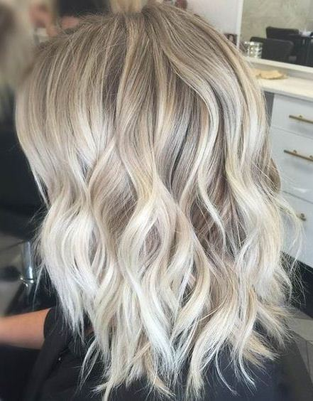 Ice blonde hairstyles for shoulder length