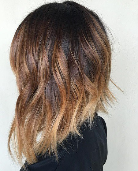 Long A line with ombre long bob haircuts