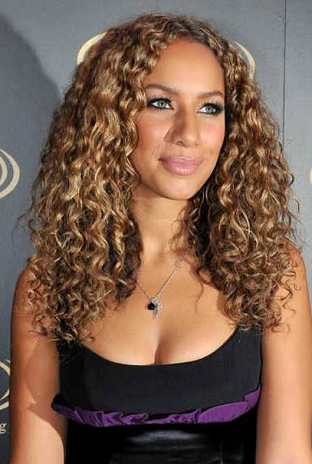 Long golden brown curls hairstyles for black women