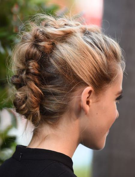Messy faux hawks creative fishtail braid hairstyles