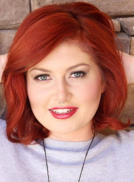 Ravihsing red short hairstyles for round faces