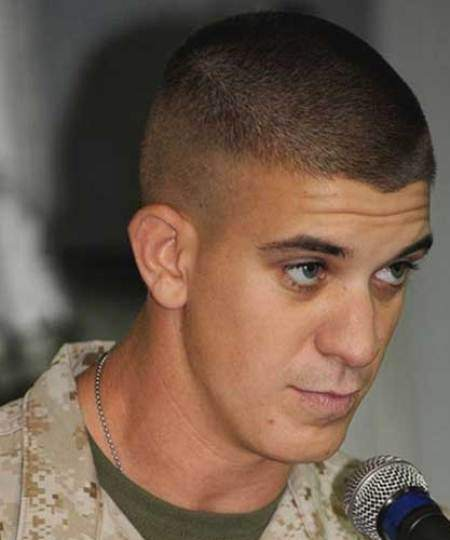 Short army cut sporty haircuts for men