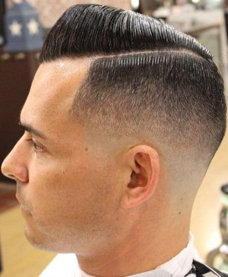 Side parted style with pompadour sporty haircuts for men