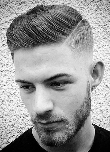 Skin fade and comb over sporty haircuts for men