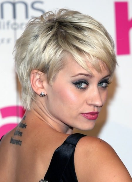 Sliver and gold style asymmetrical haircuts