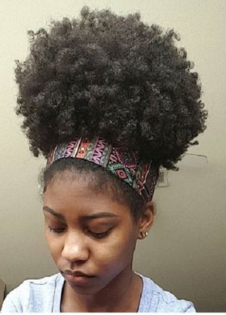 afro puffed with headband easy hairstyles for natural hair