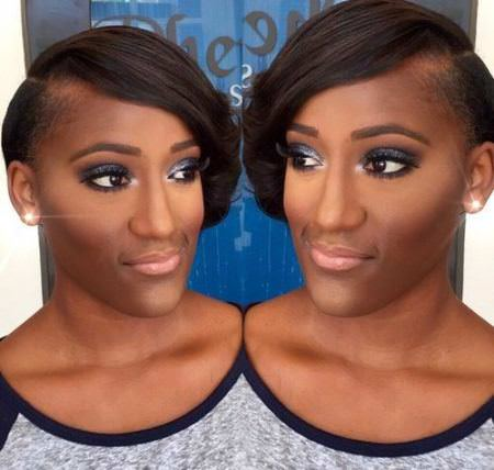 asymmetrical bob with undershave black short hairstyles