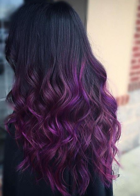 black and purple ombre waves lavender ombre hair and purple ombre