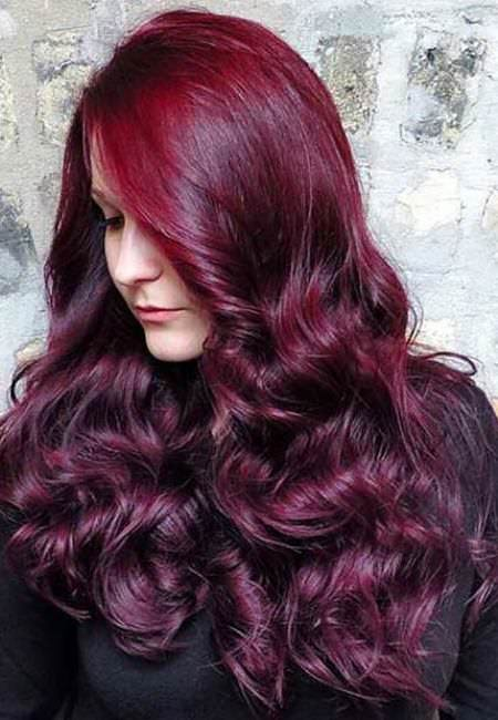 black and reddish purple lavender ombre hair and purple ombre