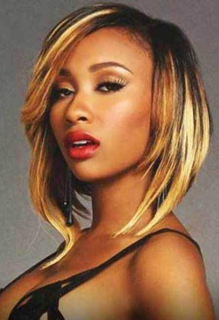 blonde bob for black women hairstyles