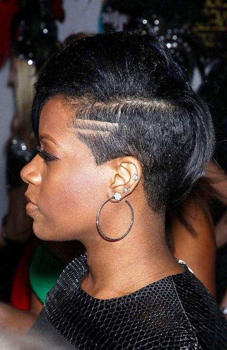 bob hairstyle with a undercut black short hairstyles
