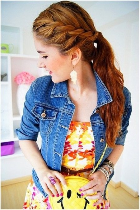 raided ponytail hairstyles for women