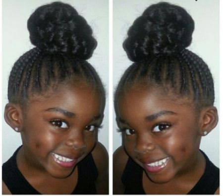 braided topknot braids for kids