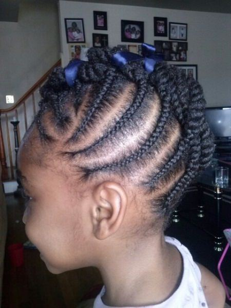 braided twisted mohawk braids for kids