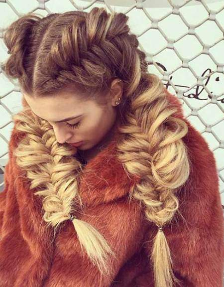 chunky french fishtail braid pigtails creative fishtail braid hairstyles