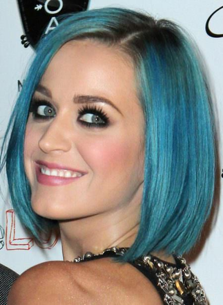 cobalt blue bob hairstyles for women