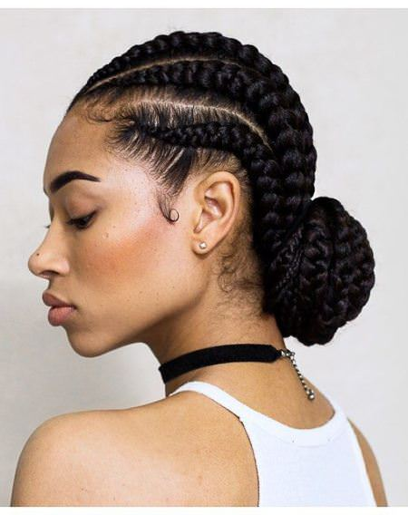 cornrow easy hairstyles for natural hair