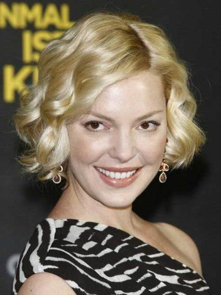 curled bob hairstyles for round faces