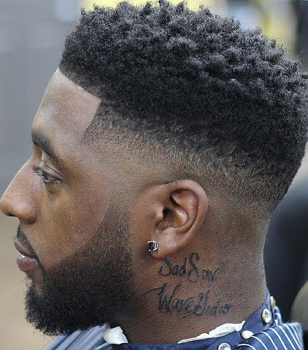 curly fade haircuts for black men