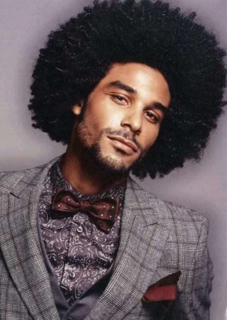 curly natural afro black men hairstyles
