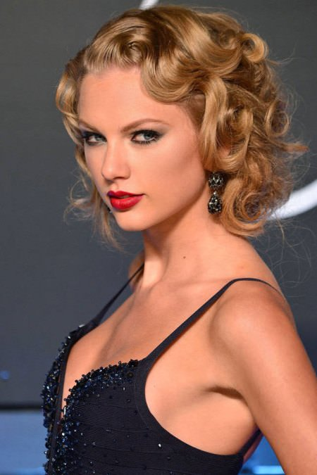 curly pin up curly hairstyles for girls