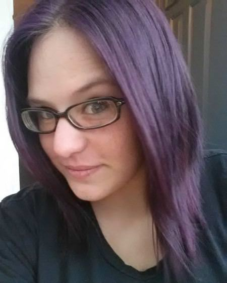 dark hair lightened with lavender ombre hair and purple ombre