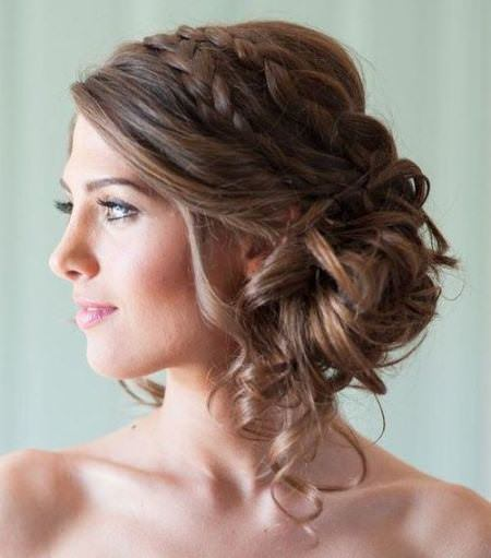 double braided updo hairstyles for women