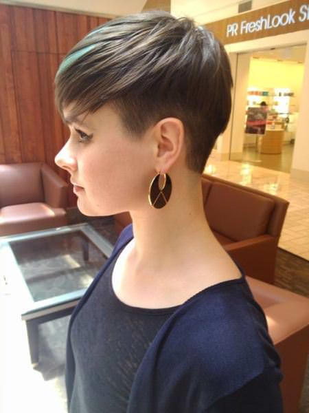 faded pixie short haircuts for thick hair