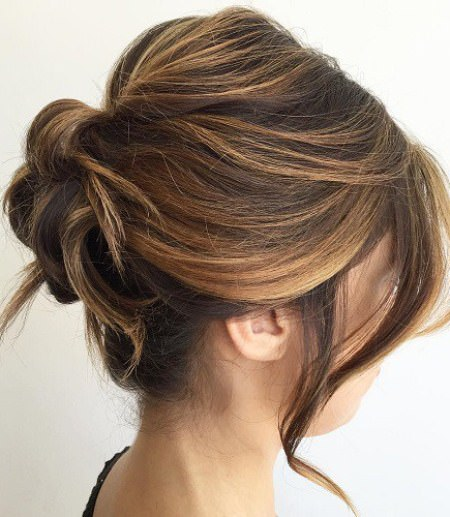 fancy roll for medium hair hairstyles for shoulder length