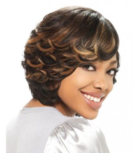 feathered short hairstyles for black women