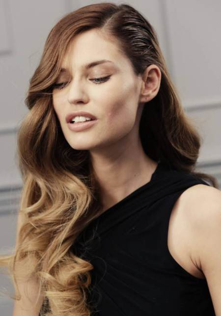 flowing waves hairstyles for round faces