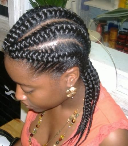 french black braided hairstyles