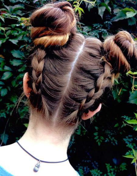 french double fishtail buns creative fishtail braid hairstyles