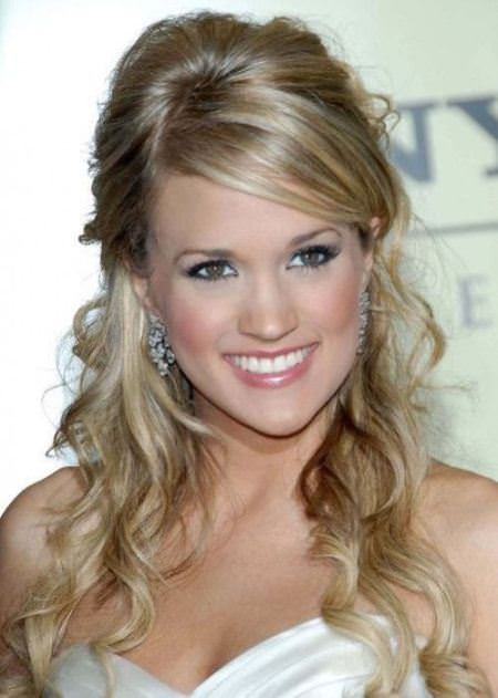 half up and half down hairstyles for women