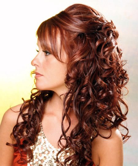 half updo curly hairstyles for girls
