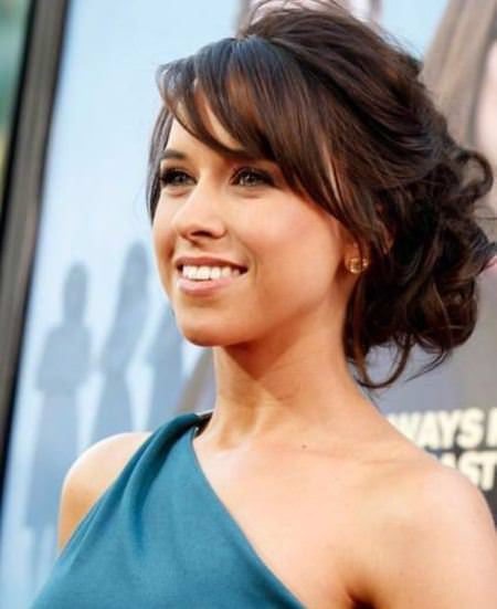 highlighted updo with side bangs hairstyles for women