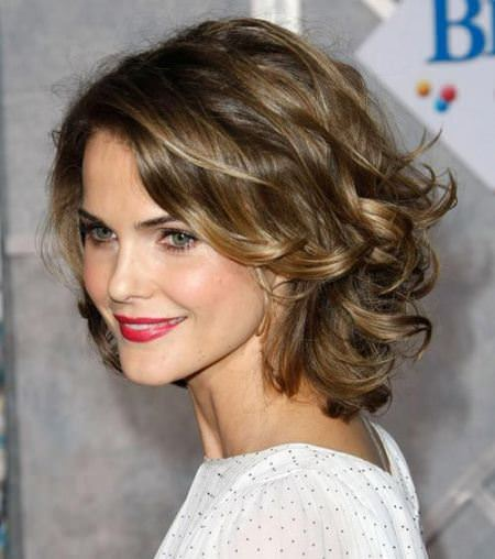 hot curls hairstyles for round faces