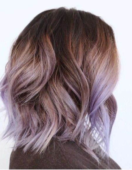 light brown and lavender purple lavender ombre hair and purple ombre