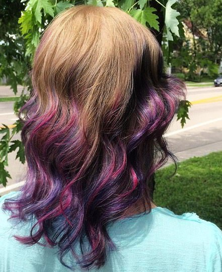light brown into purple ombre with pinkish highlights lavender ombre hair and purple ombre