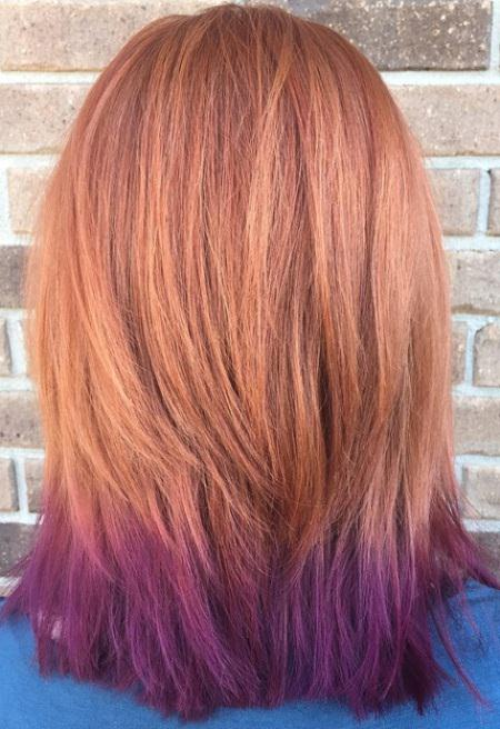 light rosewood hair with purple ombre ends lavender ombre hair and purple ombre