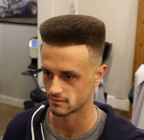 lightly faded flat top haircuts