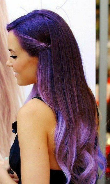 long bright ombre hair lavender ombre hair and purple ombre