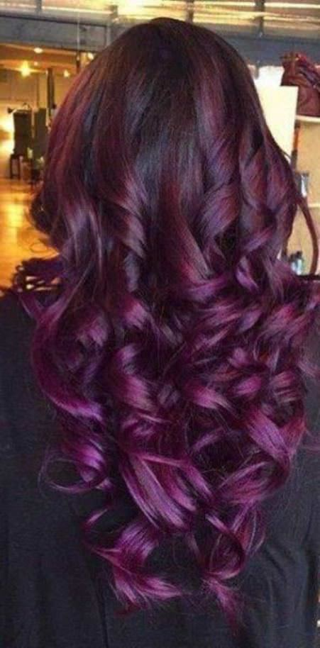 long chunky curls on lavender ombre hair lavender ombre hair and purple ombre