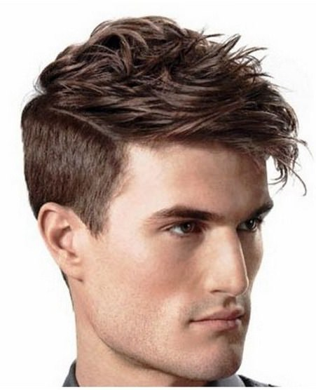 long tousled short side easy hairstyles for men
