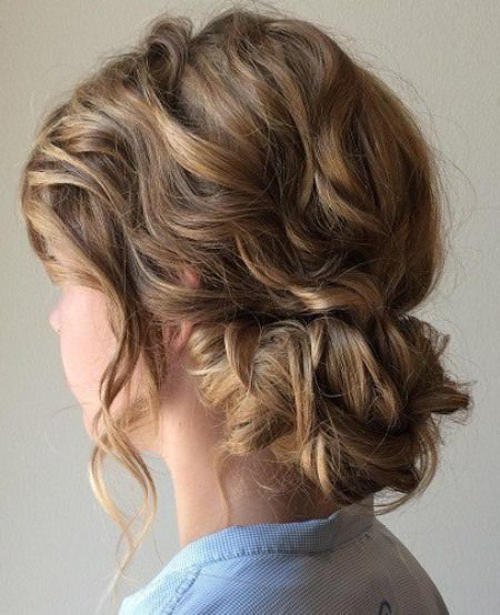 low key loose updo hairstyles for shoulder length