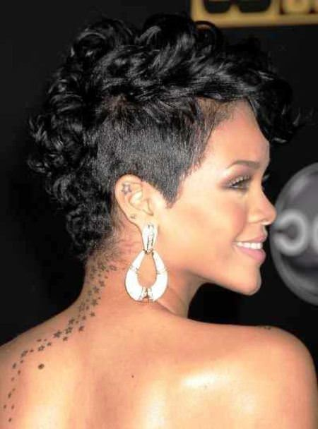modern mohawk short hairstyles for black women