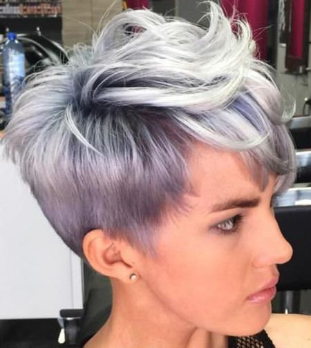 pastel pixie short haircuts for thick hair